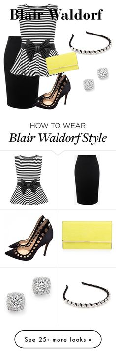 """""""Blair Waldorf"""" by katie-d101 on Polyvore featuring Alexander McQueen, WearAll, Gianvito Rossi, Henri Bendel, Kim Rogers and Bloomingdale's"""