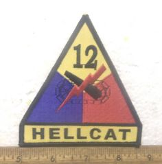 US Army - 12th Armored Division Embroidered Patch