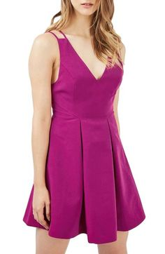 Topshop Double Strap Minidress available at #Nordstrom