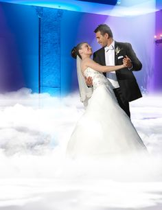 Make Your First Dance Soar with a Dance in the Clouds | Team Wedding Blog.  DJ…