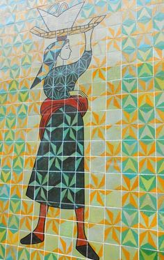 Painel da Avenida Infante Santo, Lisboa. Autoria: Júlio Pomar e Alice Jorge.