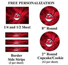 Cleveland Indians Edible Image Frosting Sheet #26 (different sizes)