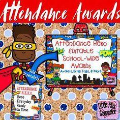 Attendance Hero Editable Award Certificates by Little Miss Counselor Attendance Incentives, School Attendance, Nursing Schools In Nyc, Nursing Career, Award Certificates, Certificate Programs, Elementary Counseling, School Counseling, Nurse Practitioner Programs