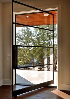 Thinking a pivot door for front door. Dont like this particular one.