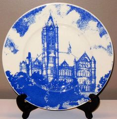 Vintage Syracuse University Crouse College Wedgewood-Style Plate