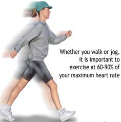Always exercise at 60-90% of your maximum heart rate to see results.  ;-)