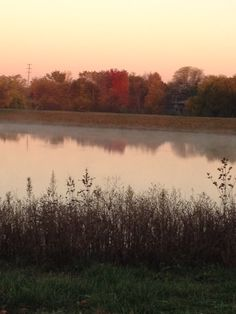 Smooth as glass pond with steam rising, Autumn beauty crying praises to our Creator.