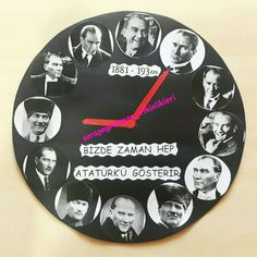 Bizde zaman hep Atatürk'ü gösterir 10 Kasım için her miniğimin Atatürk'lü saati var artık #serapogretmen #serapogretmen_etkinlikleri