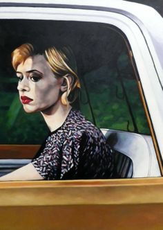 "Saatchi Online Artist: thomas saliot; Oil, Painting ""Car window"""