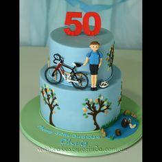 Cycling cake by Lorinda Seto Bicycle Cake, Bike Cakes, Beautiful Cakes, Amazing Cakes, Sports Themed Cakes, 50th Cake, Sport Cakes, New Cake, Cakes For Boys