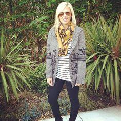 #travelingsweater #cocoonsweater @nicholsku first stop: Huntington Beach! by @jenniferandrews