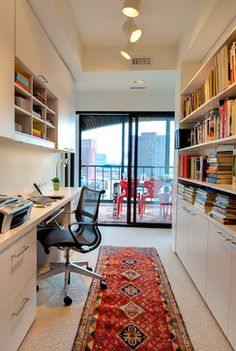 If you're looking to design a home office that works for you, whether you have a small nook or a dedicated room; from contemporary to eclectic to traditional, these offices can meet a variety of needs. Double-Duty Home Office Space: The Domestic Curator