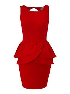 lipsy peplum dress reminds me of flower petals
