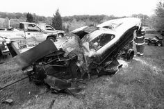 Little remained of Worsham's Funny Car after a horrendous fire at the Englishtown event in 1994 gave him burns and sidelined him for 12 weeks.