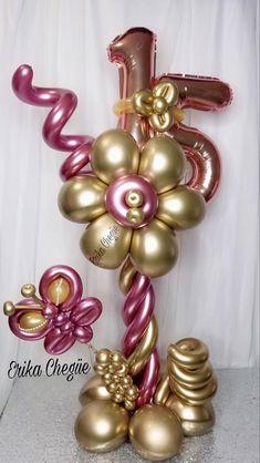 Balloon Table Centerpieces, Birthday Balloon Decorations, Diy Party Decorations, Birthday Balloons, Balloon Gift, Balloon Garland, Balloon Bouquet Delivery, Balloon Flowers, Balloon Columns