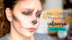 "Maquillaje de Calavera #tutorial ""Caroween"" | Carolina Llano Gold Style, Fashion Books, Halloween Face Makeup, Black Pencil, Skulls, Costume"