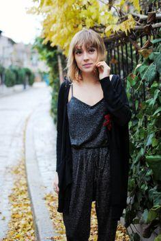 [LOOK] Combinaison à paillettes Photos Elise Dantec