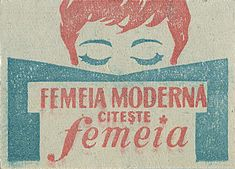 Modern Woman - vintage Romanian matchbox label | by Shailesh Chavda #read #reading