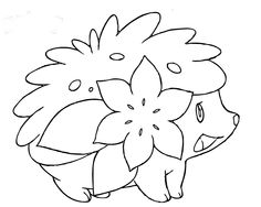 pokemon a great flower coloring page