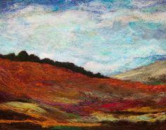 No.753 Warm Hills Too  Needlefelt Art XL by Deebs on Etsy, $130.00