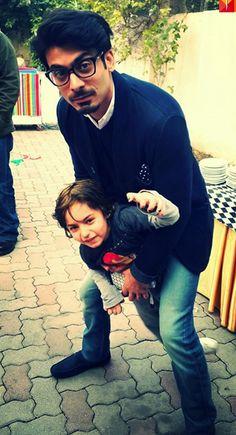 Fawad Khan with his son Ayaan Khan
