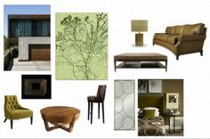 inspiration board with our Sea Fan rug