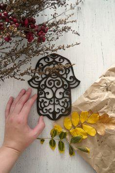 Hamsa Wall Art Hanging Evil Eye Nazar Boncuk Bead Décor Metal Hand Pinterest
