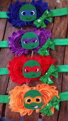 Teenage Mutant Ninja Turtle Chiffon Flower by BKaysCreations