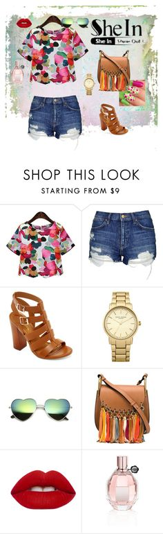 """""""Florial Blouse"""" by besirovic ❤ liked on Polyvore featuring Topshop, Bamboo, Chloé, Lime Crime and Viktor & Rolf"""
