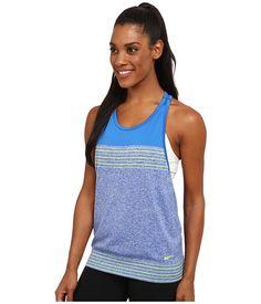 Nike Dri-FIT™ Knit Loose Tank Top Game Royal/Soar/Volt/Volt - Zappos.com Free Shipping BOTH Ways