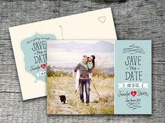 Save The Date Wedding Announcement Postcard Design - DIY Printables via Etsy Diy Save The Date, Save The Date Postcards, Wedding Save The Dates, Save The Date Cards, Faire Part Invitation, Save The Date Invitations, Invitation Design, Wedding Invitations, Invites