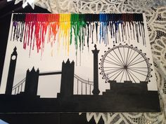 Christmas holiday in London with you. #acrylic #diy #first #art #work
