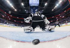 TAMPA, FL - FEBRUARY 7: The Tampa Bay Lightning score a goal against goalie Peter Budaj #31 of the Los Angeles Kings during the second period at Amalie Arena on February 7, 2017 in Tampa, Florida. (Photo by Scott Audette/NHLI via Getty Images)