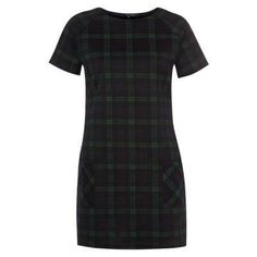 $22, Navy and Green Plaid Shift Dress: New Look Navy And Green Tartan Check Shift Dress. Sold by New Look. Click for more info: http://lookastic.com/women/shop_items/113615/redirect