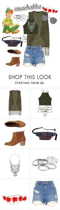 """""""coachella disney (example)"""" by beautytime101 ❤ liked on Polyvore featuring Dorothy Perkins, Tigerlily, Miss Selfridge, Kendra Scott, claire's, River Island and Ray-Ban"""