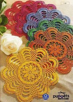 Delicadezas en crochet Gabriela: Posa vasos o fuentes
