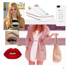 """""""Untitled #79"""" by elliethemunchkin on Polyvore featuring beauty, Converse and Lime Crime"""
