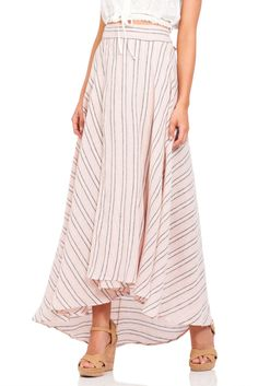 Spell Island boho wrap skirt in coral