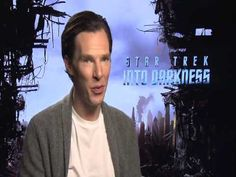 Benedict Cumberbatch - Star Trek Into Darkness Press Junkets Pt1. This is the interview where his phone goes off LOL
