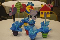 Blues Clues themed party table center pieces, or maybe cupcake toppers? Blue Birthday Parties, 2nd Birthday Party Themes, Birthday Party Centerpieces, Birthday Decorations, Boy Birthday, Birthday Ideas, Clue Themed Parties, Clue Party, Bubble Guppies Party