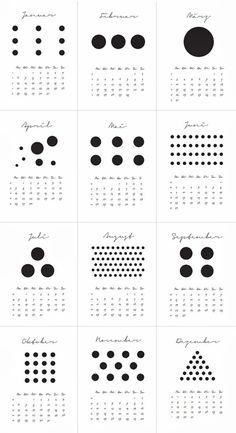 "minu.design: Kalender 2014 ""Dots"""