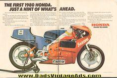 1980 Honda NR500 Grand Prix 2-Page Ad