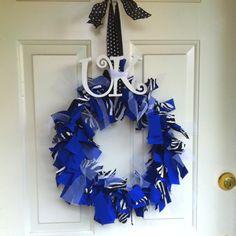 My UK scrap wreath! Go CATS!