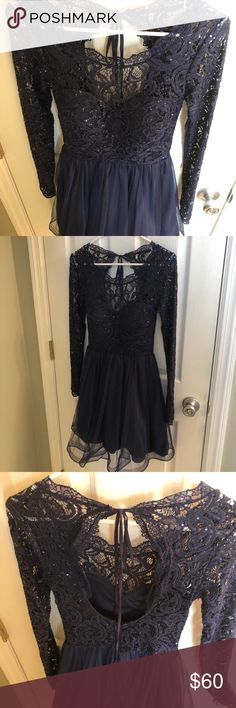 My Michelle, size 3 beautiful dress, never worn Beautiful, My Michelle, size 3, Navy Blue dress My Michelle Dresses