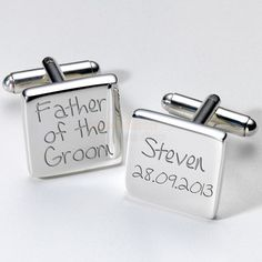 Engraved Father of the Groom Cufflinks from Personalised Gifts Shop - ONLY £19.95