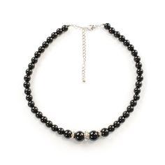 Fekete gyöngyös elegancia nyaklánc