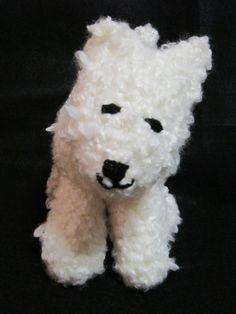 Samoyed White Dog with a Curly Tail Crochet by crochetedbycharlene