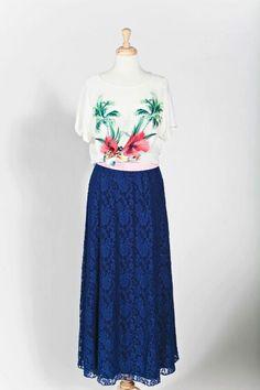 LuLaRoe Lucy skirt. Use ANNIEMCCAMMON at lularoe.com/shop for free shipping. #lularoe #lularoewithannie #lucyskirt #maxiskirt #laceskirt