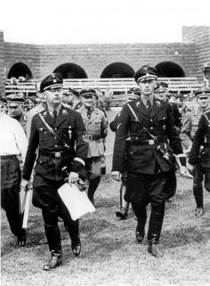 Heinrich Himmler and Reinhard Heydrich. Arguably two of the most evil men to ever exist.