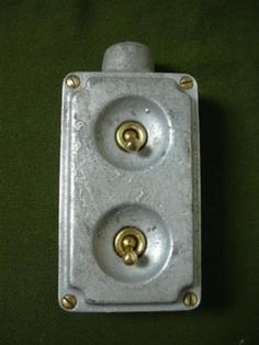 Vintage-industrial-light-switch-factory-antique-cast-iron-salvaged-art-deco